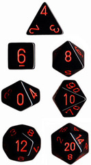Black/Red Opaque d20 - PQ2018