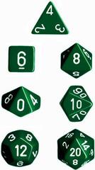 Green/White Opaque d4 - PQ0405