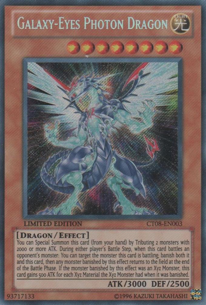 Galaxy-Eyes Photon Dragon - CT08-EN003 - Secret Rare - Limited Edition - Promo