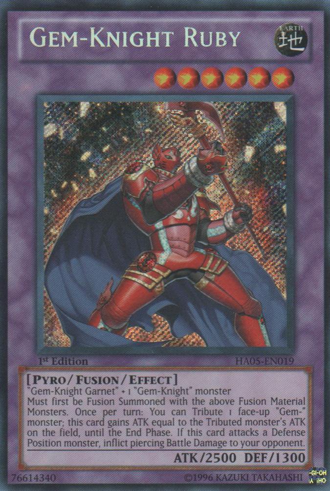 Gem-Knight Ruby - HA05-EN019 - Secret Rare - 1st Edition