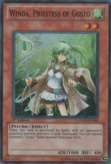Winda, Priestess of Gusto - HA05-EN040 - Super Rare - 1st Edition