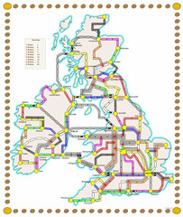 Britain & Ireland (fan expansion to Ticket To Ride: Europe)