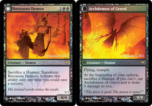 Ravenous Demon // Archdemon of Greed - Foil - Prerelease Promo