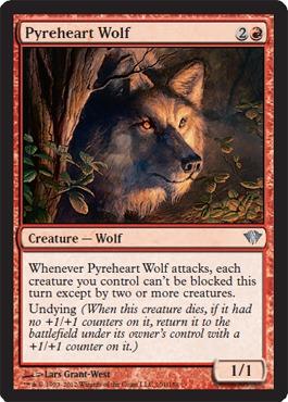Wandering Wolf x4 NM Magic the Gathering Battlebond