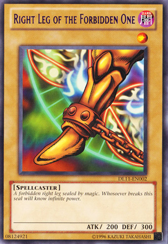 Right Leg of the Forbidden One - Purple - DL11-EN002 - Rare - Unlimited Edition