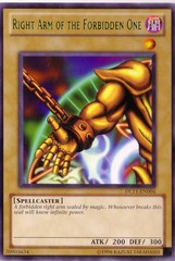 Right Arm of the Forbidden One - Green - DL11-EN004 - Rare - Unlimited Edition