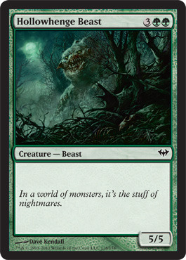 Foil 1x Immerwolf Dark Ascension Slight Play x1 English -BFG- MTG Magic