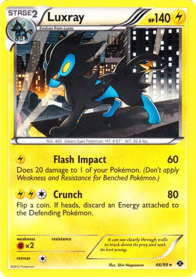 DP PLATINUM ARCEUS POKEMON HOLO CARD LUXRAY 5//99