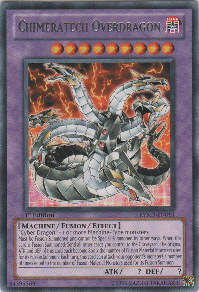 Chimeratech Overdragon - RYMP-EN061 - Rare - 1st Edition