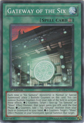 Unlimited Yugioh,SOVR-EN089 Super Rare Gateway of the Six NM