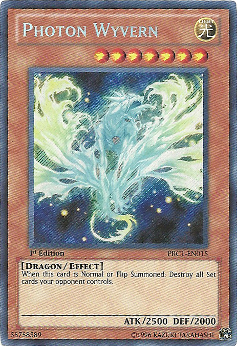 Photon Wyvern - PRC1-EN015 - Secret Rare - 1st Edition - Promo
