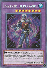 Masked HERO Acid - PRC1-EN018 - Secret Rare - 1st Edition - Promo