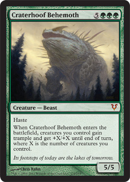 Craterhoof Behemoth - Foil
