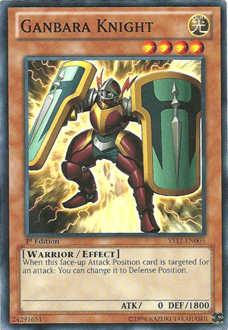 Ganbara Knight - YS12-EN005 - Common - 1st Edition