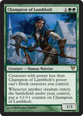 Champion of Lambholt - Foil on Channel Fireball