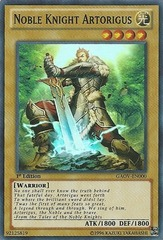 Noble Knight Artorigus - GAOV-EN000 - Super Rare - 1st Edition