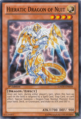 Hieratic Dragon of Nuit - GAOV-EN018 - Common - 1st Edition