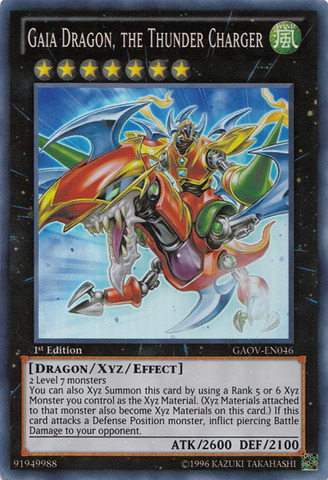 Gaia Dragon, the Thunder Charger - GAOV-EN046 - Super Rare - 1st Edition