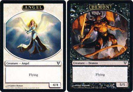 Angel/Demon Token Double-Faced Helvault Promo