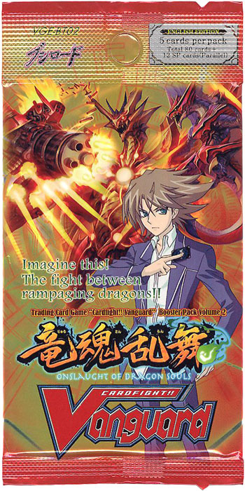 Cardfight!! Vanguard VGE-BT02 Onslaught of Dragon Souls Booster Pack