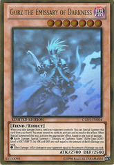 Gorz the Emissary of Darkness - GLD5-EN024 - Ghost/Gold Hybrid Rare - Limited Edition
