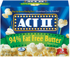 ACT 2 Light Butter Popcorn 3-Pack 12ct
