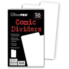 Comic Dividers White Rigid 7-1/2
