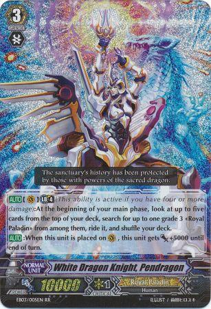 White Dragon Knight, Pendragon - EB03/005EN - RR