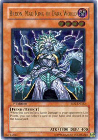 Brron, Mad King of Dark World - EEN-EN022 - Rare - 1st Edition