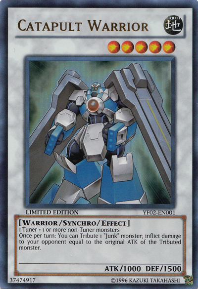 Catapult Warrior - YF02-EN001 - Ultra Rare - Limited Edition
