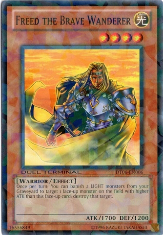 Freed the Brave Wanderer - DT06-EN006 - Parallel Rare - Duel Terminal