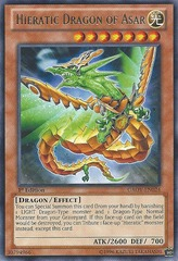 Hieratic Dragon of Asar - GAOV-EN024 - Rare - Unlimited Edition
