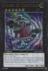 Number 25: Force Focus - GAOV-EN045 - Ultimate Rare - Unlimited Edition