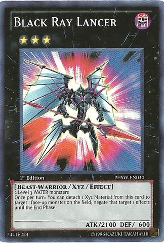 Black Ray Lancer - PHSW-EN040 - Super Rare - Unlimited Edition