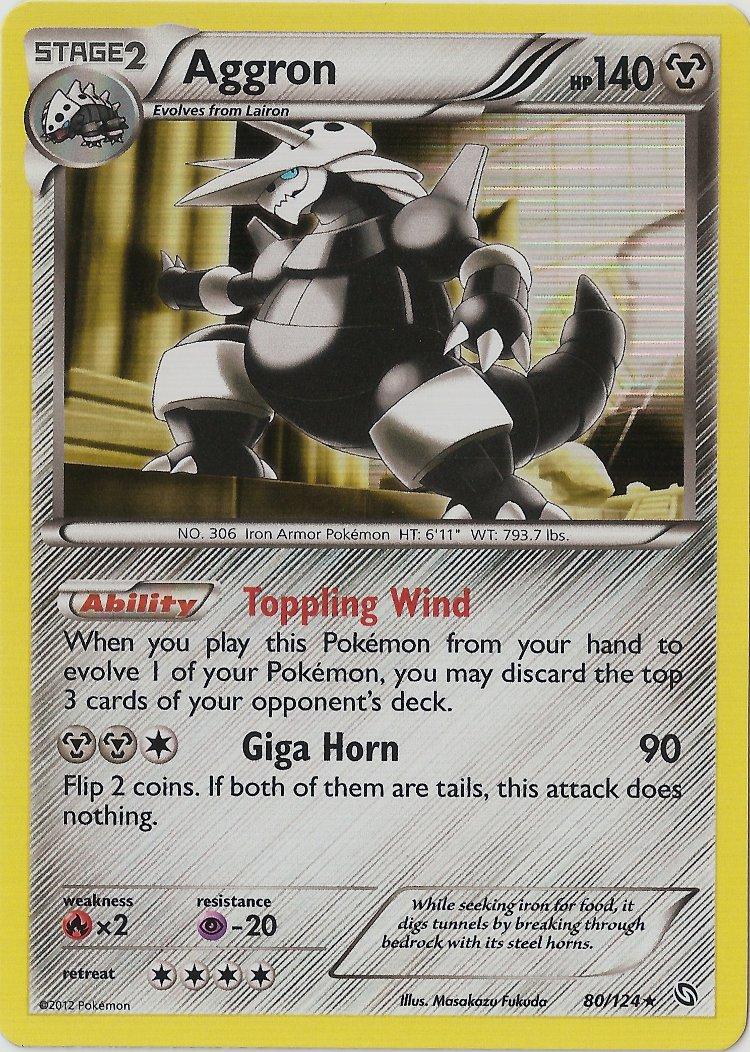 Aggron - 80/124 - Holo Rare