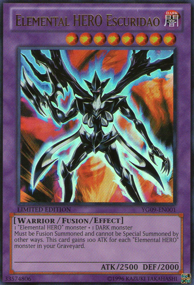 Elemental HERO Escuridao - YG09-EN001 - Ultra Rare - Limited Edition