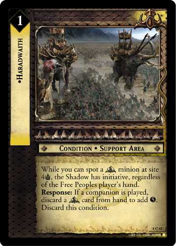 LoTR TCG Siege of Gondor Black Numenorean 8R49