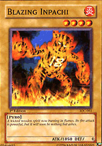 Blazing Inpachi - IOC-061 - Common - 1st Edition