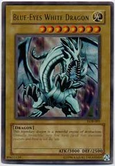Blue-Eyes White Dragon - LOB-001 - Ultra Rare - 1st Edition on Channel Fireball