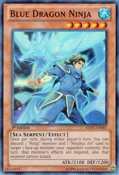 Blue Dragon Ninja - REDU-EN083 - Super Rare - Unlimited Edition