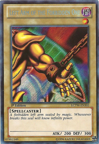 Left Arm of the Forbidden One - LCYW-EN305 - Secret Rare - 1st Edition