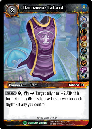 Darnassus Tabard - Out of print TCGs » World of Warcraft TCG