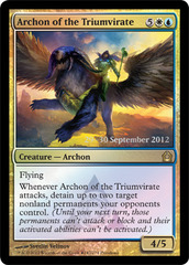 Archon of the Triumvirate - Return to Ravnica Prerelease Promo Foil