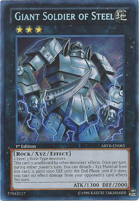 Giant Soldier of Steel - ABYR-EN085 - Secret Rare - 1st Edition