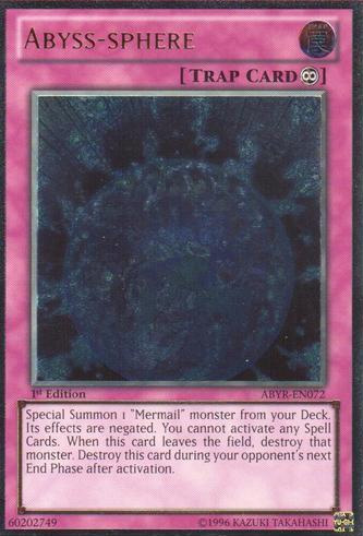 Abyss-sphere - ABYR-EN072 - Ultimate Rare - 1st Edition