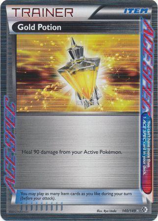 Gold Potion - 140/149 - Rare Holo