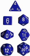 Opaque 7 Dice set (CHX25406) - Blue / White