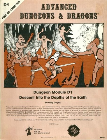 AD&D D1 - Descent into the Depths of the Earth 9019