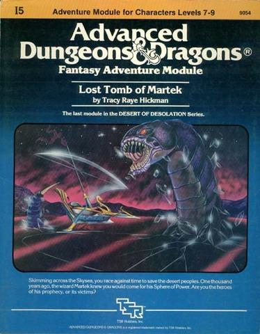 AD&D I5 - Lost Tomb of Martek 9054