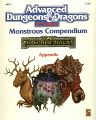 AD&D  Forgotten Realms Monstrous Compendium Appendix